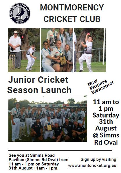Junior Season Launch 31 August 2019